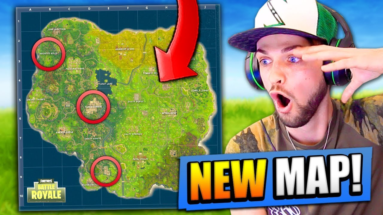 New Map Revealed For Fortnite Battle Royale Youtube