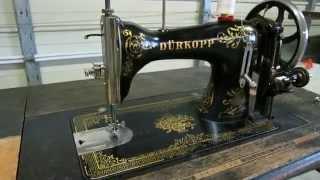 Vintage Durkopp CL 14 Treadle Sewing Machine Demonstration