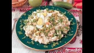Салат «Оливье» зимний с курицей
