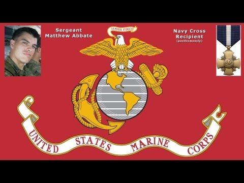 Marine Sgt. Matthew Abbate Posthumously Awarded Navy Cross