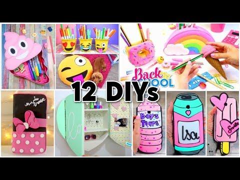 12 BEST DIYs! Room Decor - Emojis - Back To School & Phone Cases Homemade