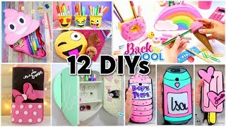 12 BEST DIYs! Room Decor - Emojis - Back to School & Phone Cases Homemade