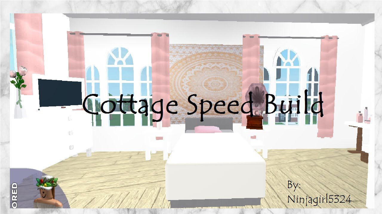 Welcome to bloxburg 2 story cottage speed build youtube for Dining room ideas bloxburg