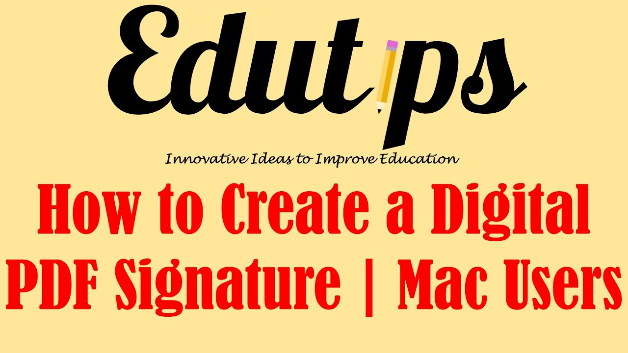 How To Create A Digital Pdf Signature In Preview (mac Users)