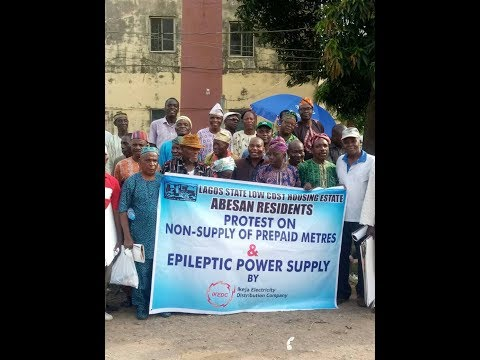 Abesan Residents Protest at Ikeja Electric Office, Alausa, Lagos