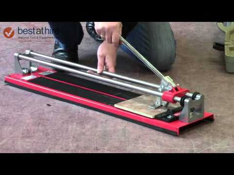 How To Use A Manual Tile Cutter Youtube