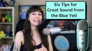 Blue Yeti Sound Test and 6 Tips for Setting up the Blue Yeti Microphone