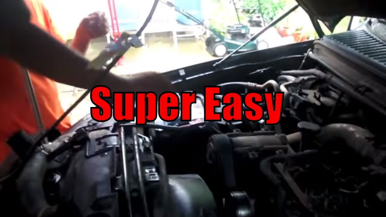 how to change the belt on 1994 2003 ford f350 7 3 liter diesel [ 1280 x 720 Pixel ]