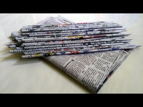 Best out of waste craft idea Using Newspaper/ How to make Stationary Organizer