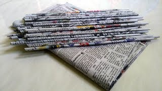 Best out of waste craft idea Using Newspaper/ How to make Stationery Organizer
