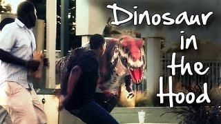 Dinosaur In The Hood Prank!