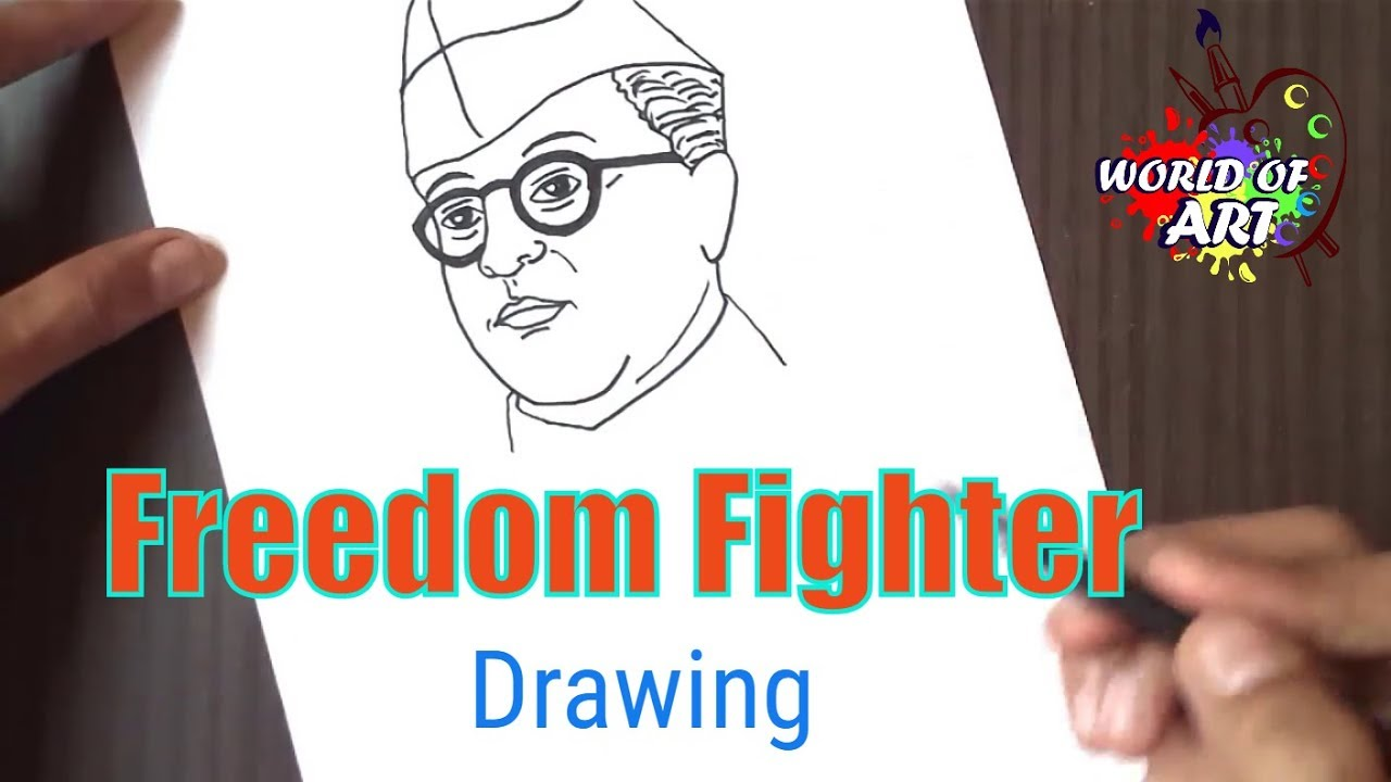 How To Draw Subhash Chandra Bose Youtube