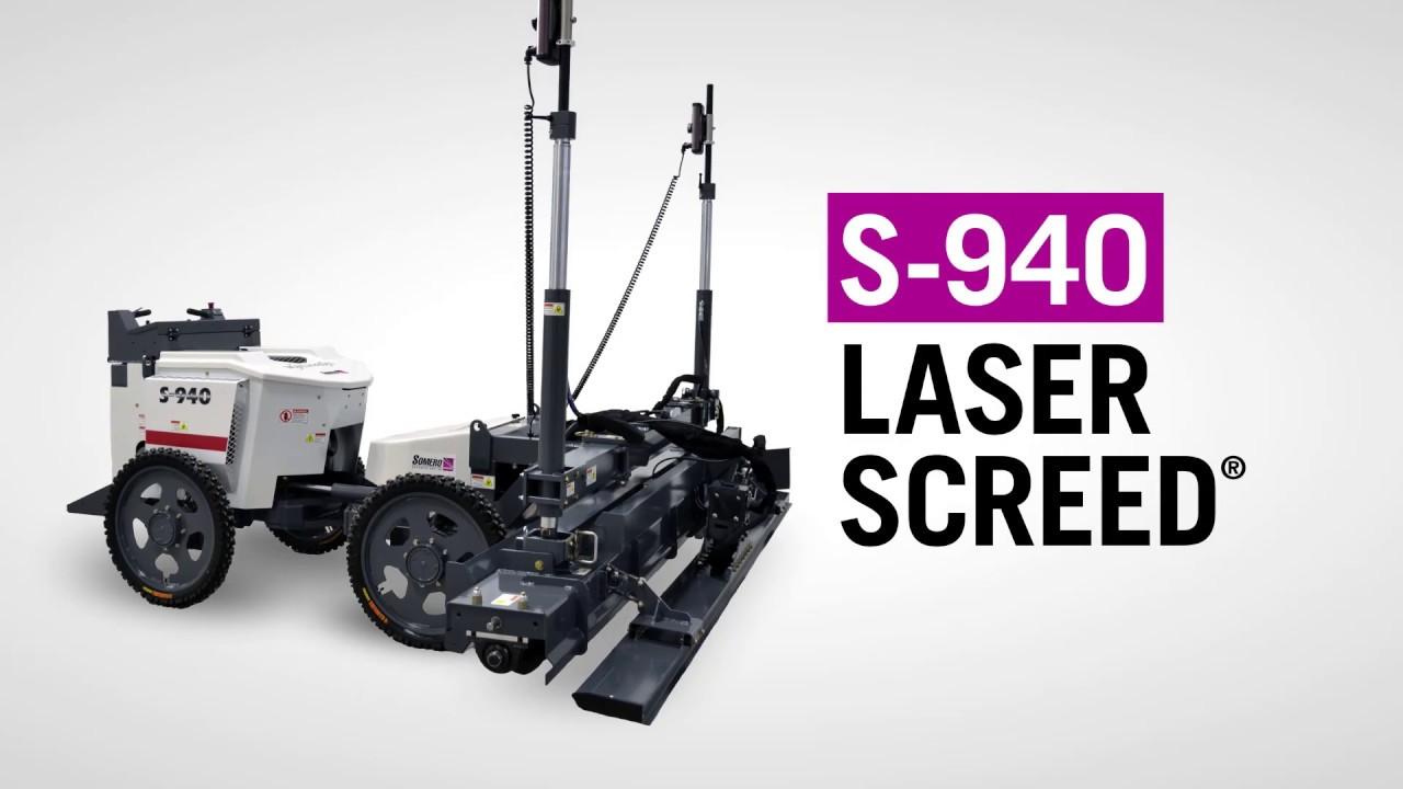 Somero S 940 Laser Screed Machine Youtube