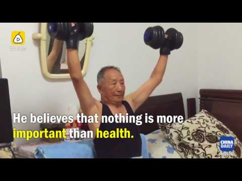 95-year-old fitness fanatic turns his home into a gym!