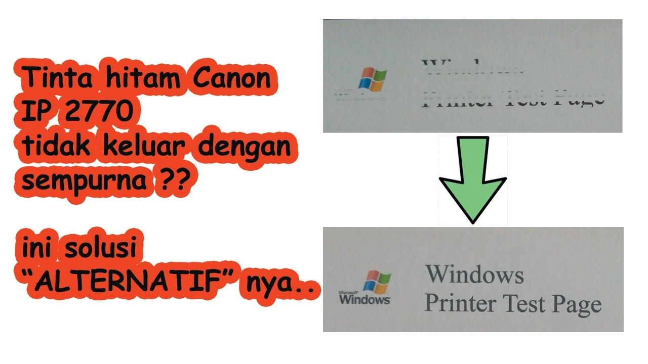 Cara Mengatasi Tinta Printer Yang Tidak Mau Keluar