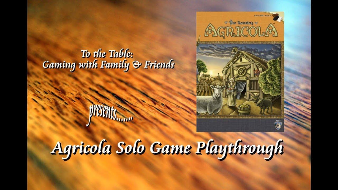 Агрикола. Новое издание 1/2 часть - играем в настольную игру - YouTube