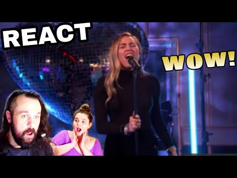 REAGINDO: MILEY CYRUS - NO TEARS LEFT TO CRY  ARIANA GRANDE COVER REACT