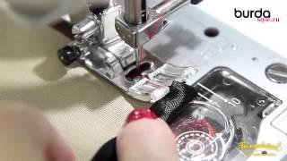 Швейная машинка  Урок 11 работа с косой бейкой 2