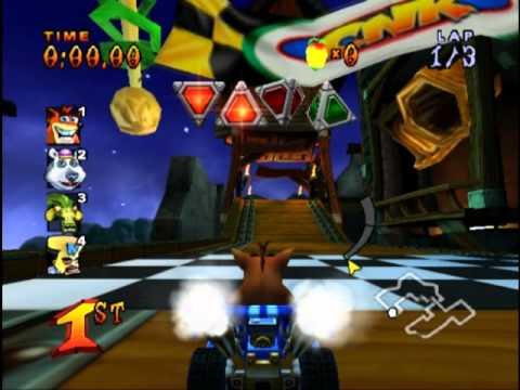 Crash Nitro Kart (PS2 Gameplay)