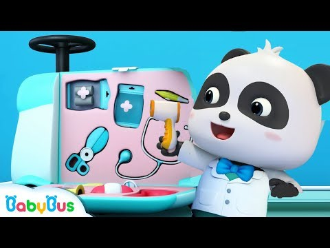 download Doctor Panda with Doctor Toys | Baby Kitten is Scared of Hospital | Kids Pretend Play | BabyBus