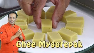 Ghee Soft Mysore Pak Video Recipe