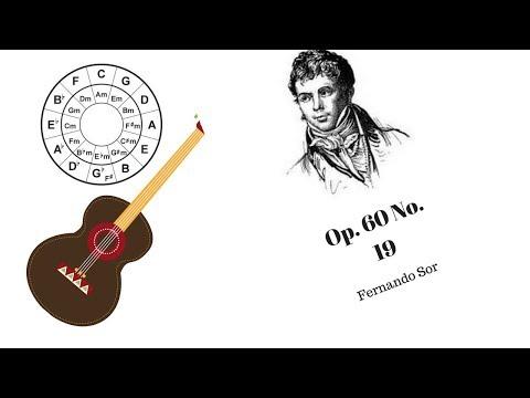 Fernando Sor Op. 60 No. 19 - Classical Guitar LIVE - Free Music Education