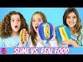 Making FOOD Out of SLIME!! Real Food vs Slime Challenge!