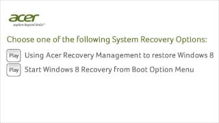 Windows 8 - System Recovery Options