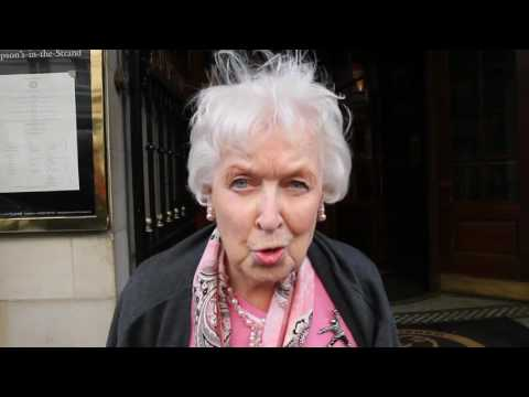 June Whitfield Talks About The Importance Of The Oldie Of The Year Awards In London