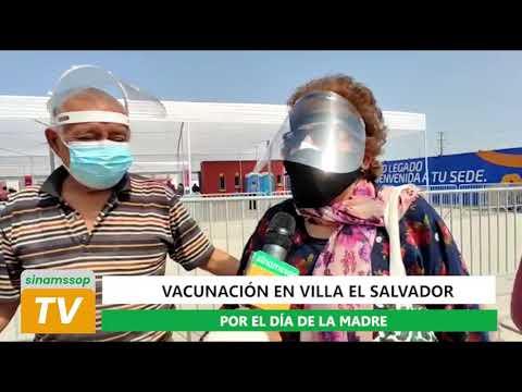 VACUNACIÓN EN VILLA EL SALVADOR POR EL DIA DE LA MADRE