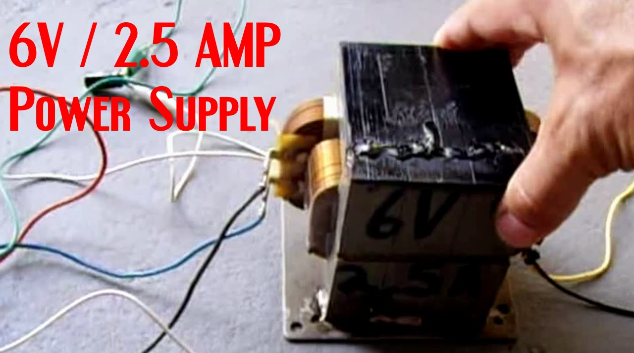 Homemade 6v 2 5 Amp Power Supply Battery Charger Youtube
