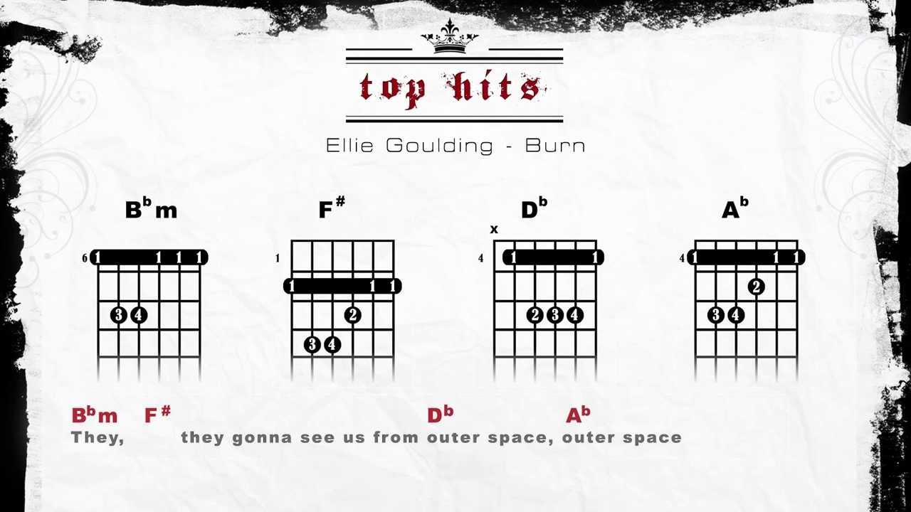 Ellie Goulding Burn Lyrics Chords Guitar Tabs Youtube