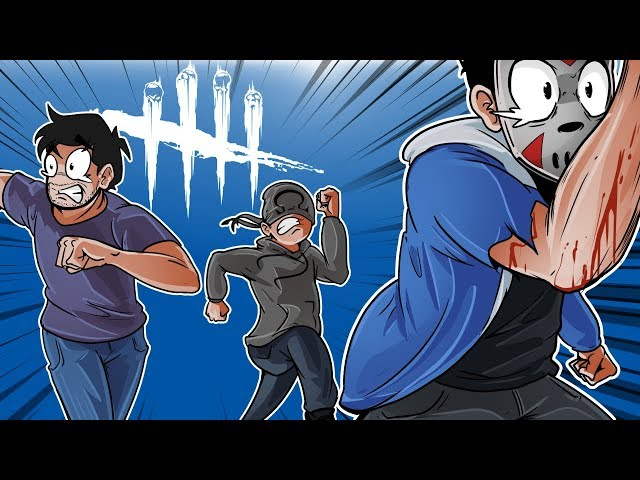 Dead By Daylight - LEAVING GORILLA BEHIND!! (Surviving with friends!)