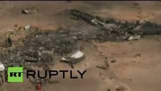 Russian plane crash debris strewn across the Sinai