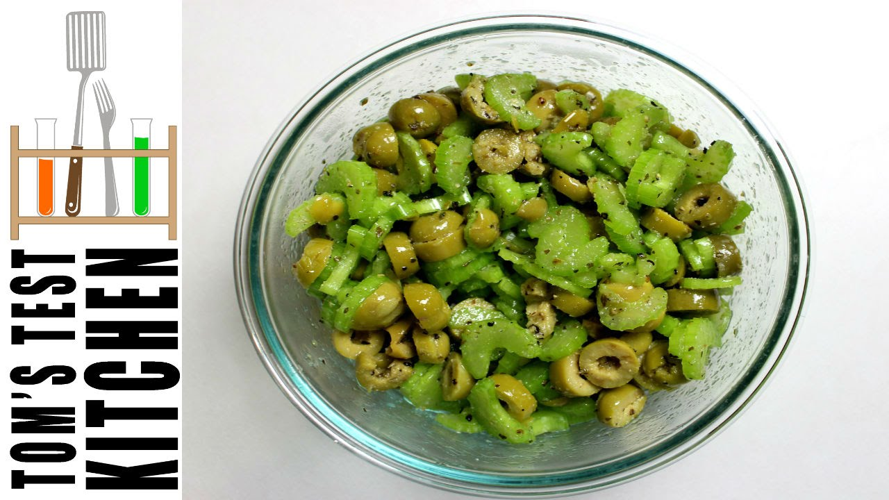 Celery Olive Salad - YouTube