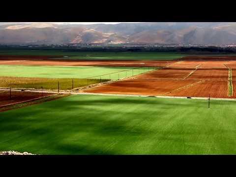 Bekaa valley, green Lebanon Beqaa agriculture land in Lebanon