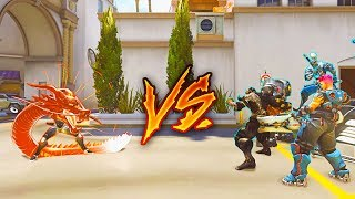 1 Top 500 GENJI with INFINITE Ult vs 6 Silvers - Who Wins? [OUR BEST GAME EVER] - Overwatch VS