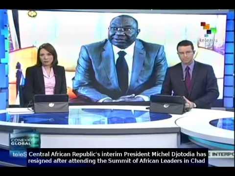 Central African Republic President Michel Djotodia resigns
