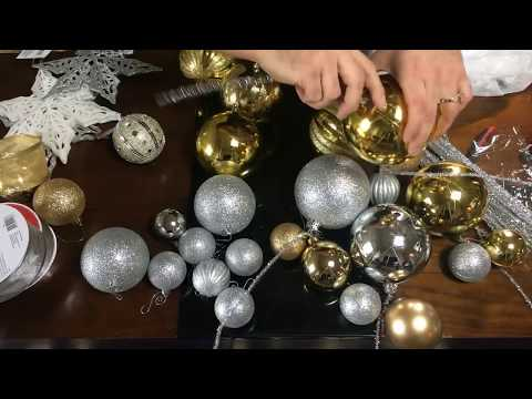 Christmas DIY / Ornament Clusters and Ribbon Waves / Dollar Tree Project 2018  / LIVE