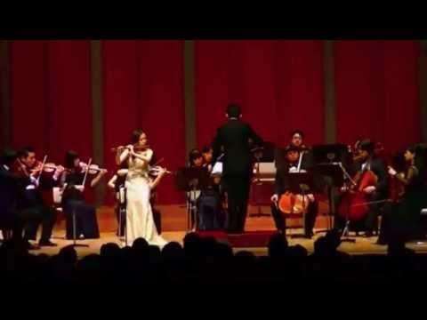 Kaori Fujii: Flute Concerto No. 2 in D K. 314 by W.A. Mozart - 2/3 / 藤井香織:フルート協奏曲第2番 第2楽章 [モーツァルト]