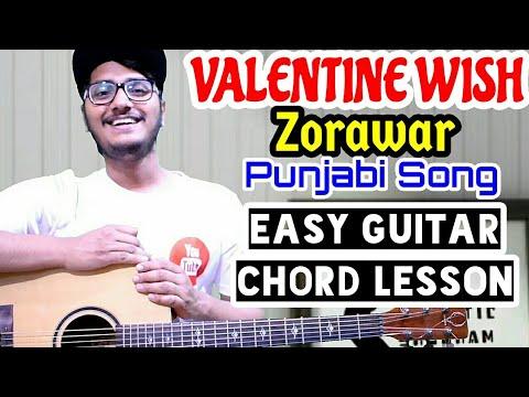 Valentine wish - zorawar - punjabi song guitar tutorial, easy guitar chord lesson, guitar cover