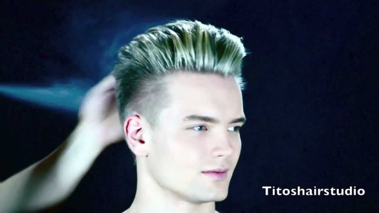 Swedish model Gustav new hair cut and color by