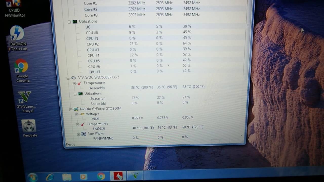 Monster Abra A5 V1.2 Gta 5 grafik ayarları ve ısı değerleri