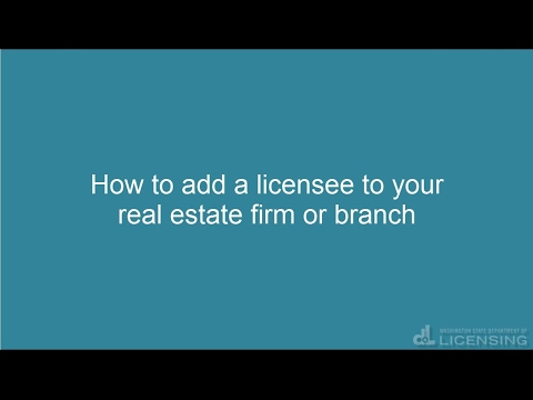 How to add a licensee to your real estate firm or branch