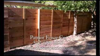 Horizontal Wood Privacy Fence Builder And Contractor Austin Texas 512-699-2825