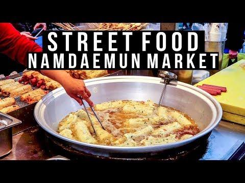 Namdaemun Market Korean Street Food & Deoksugung Palace - vlog #007