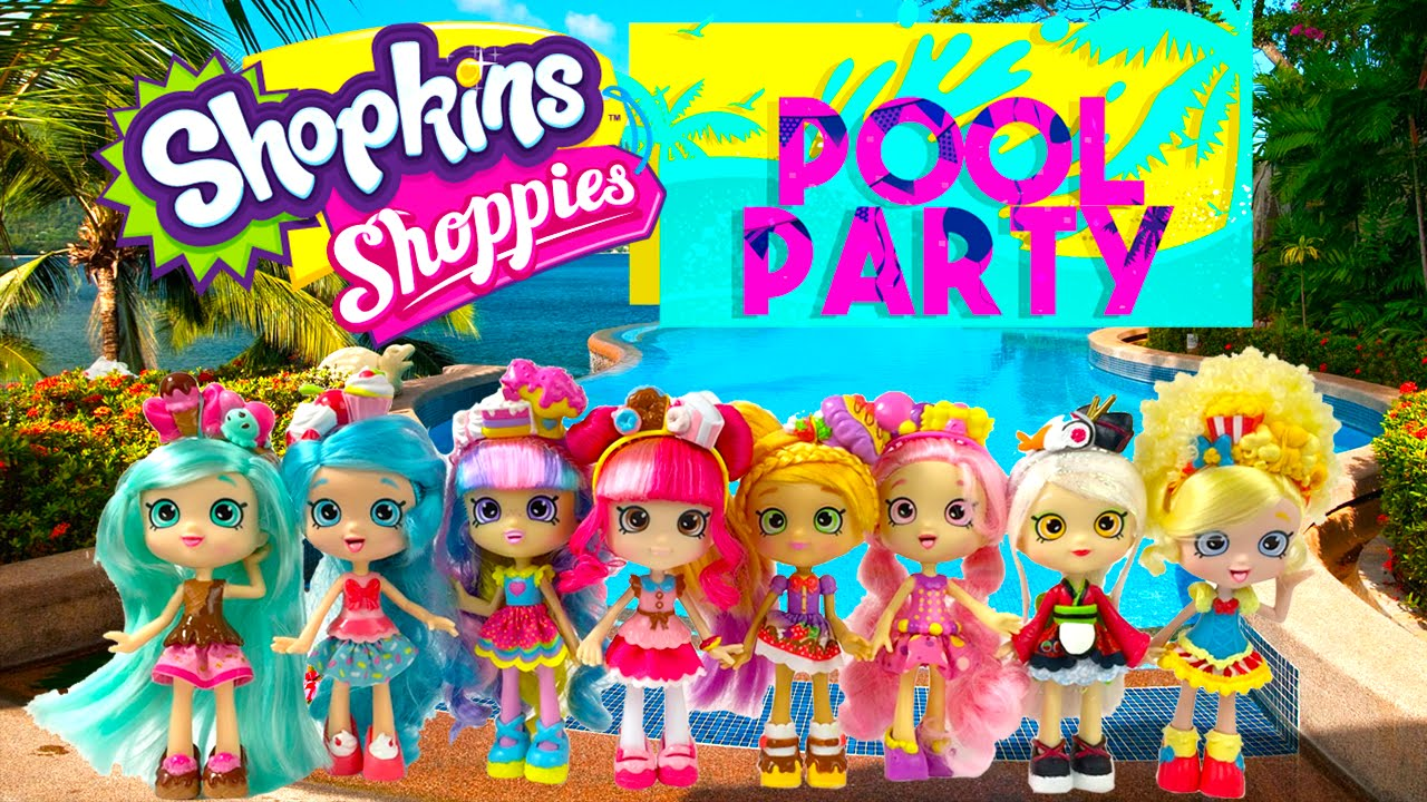 Shopkins Shoppies Pool Party Summer Camp - YouTube
