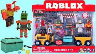 Ensemble de jeu Roblox TNT, Mining, Car, Robot, Code Item, Série 3, Unboxing - Toy Review