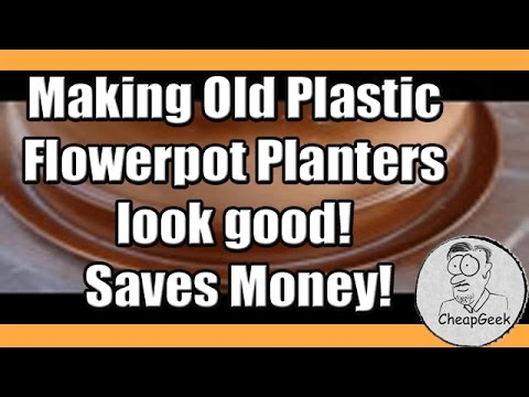 Making Old Plastic Flowerpot Planters Look Good Youtube