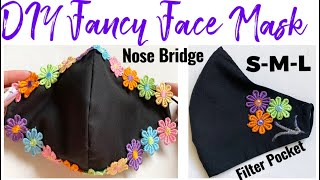 147 How To Hand Sew Face Mask With Filter Pocket Nose Bridge Luxury Breathable Face Mask DIY